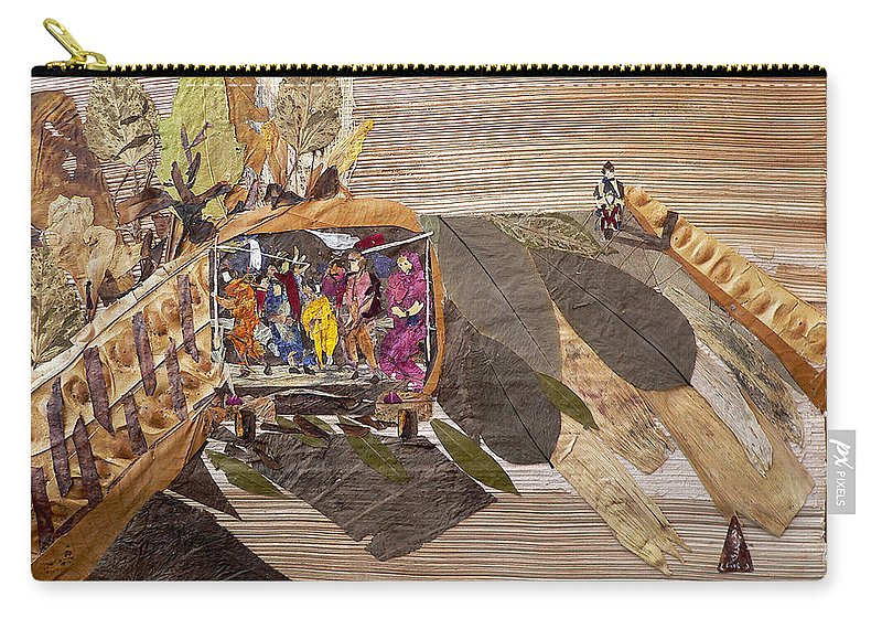 Tempo Drive To City Carry-all Pouch featuring the mixed media Steep Riding by Basant soni