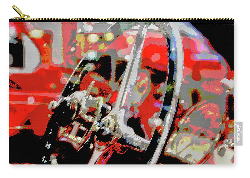 Cars Carry-all Pouch featuring the digital art Steering Clear by Karol Blumenthal