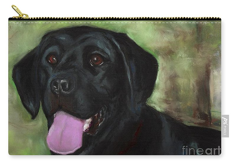 Black Lab Carry-all Pouch featuring the painting Stella Luna by Frances Marino