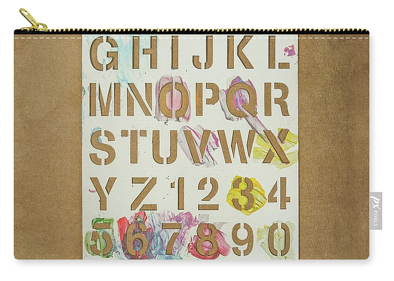 Stencil Carry-all Pouch featuring the photograph Stencil Alphabet Fun by Scott Norris