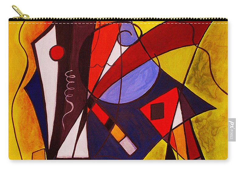 Abstract Carry-all Pouch featuring the painting Step Lively Now by Ruth Palmer