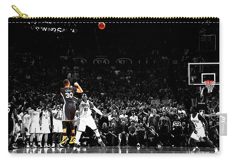 Stephen Curry Carry-all Pouch featuring the mixed media Steph Curry Its Good by Brian Reaves