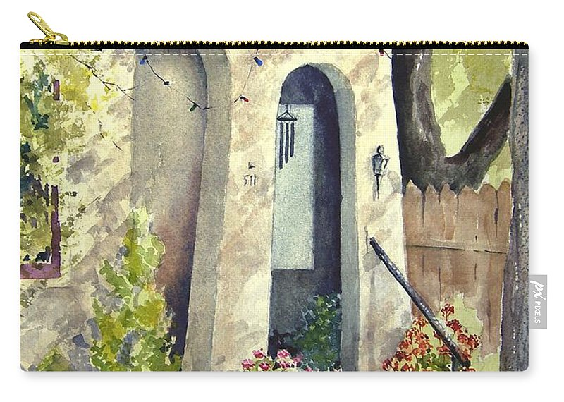 Door Carry-all Pouch featuring the painting Stephanie's Porch by Sam Sidders