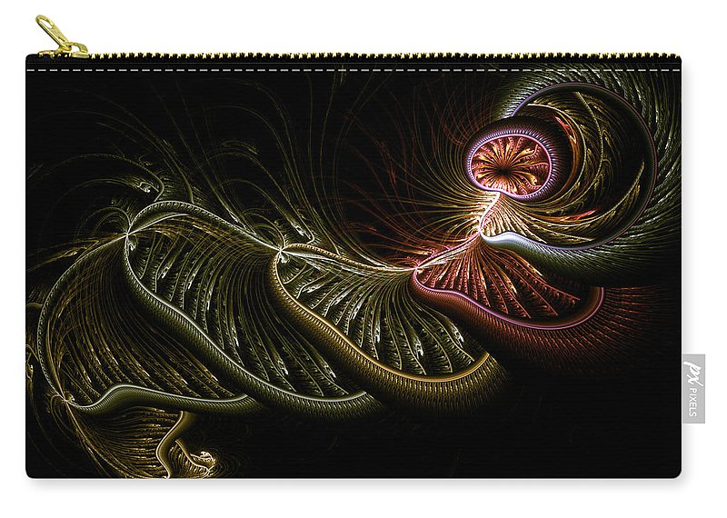 Abstract Carry-all Pouch featuring the digital art Stepping Through Time by Casey Kotas