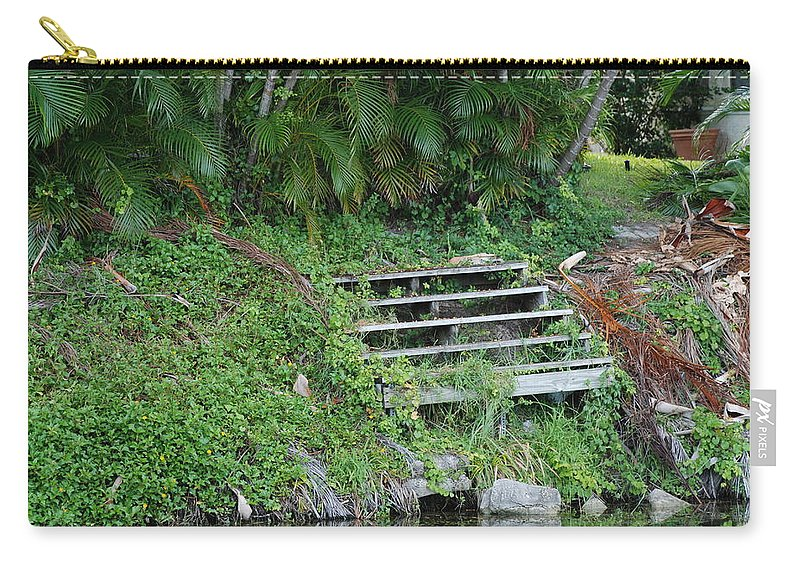 Grass Carry-all Pouch featuring the photograph Steps In The Grass by Rob Hans