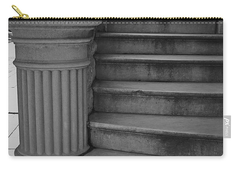 Steps Carry-all Pouch featuring the photograph Steps Of Mount Vernon by Jost Houk