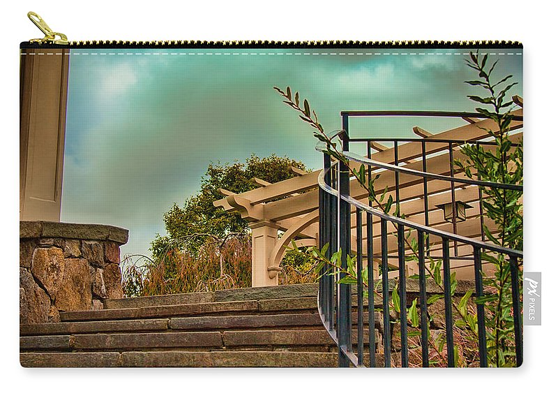 Architecture Carry-all Pouch featuring the photograph Steps To Jupiter by Mike Smale