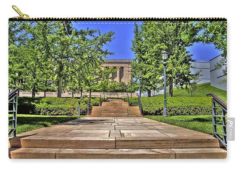 Hdr Carry-all Pouch featuring the photograph Steps To The Nelson by Timothy Bischoff