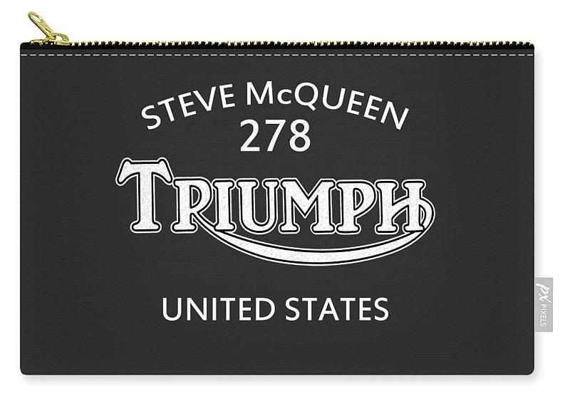 Isdt 1964 Carry-all Pouch featuring the photograph Steve Mcqueen Isdt Triumph by Mark Rogan