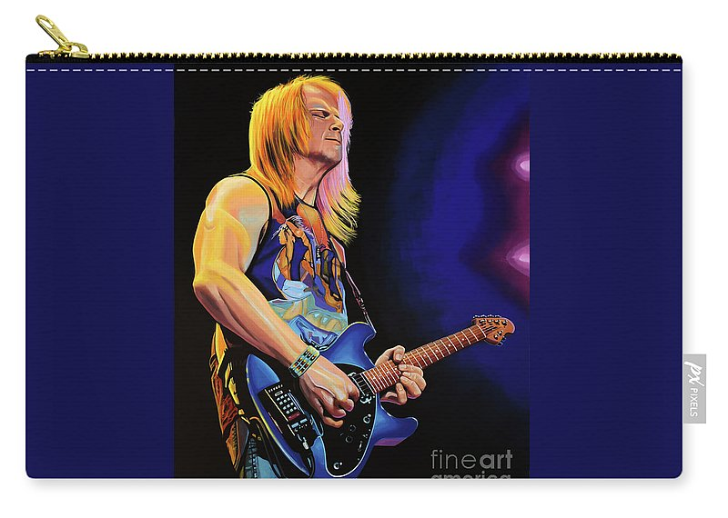 Steve Morse Carry-all Pouch featuring the painting Steve Morse Painting by Paul Meijering