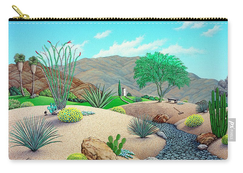 Landscape Carry-all Pouch featuring the painting Steve's Yard by Snake Jagger