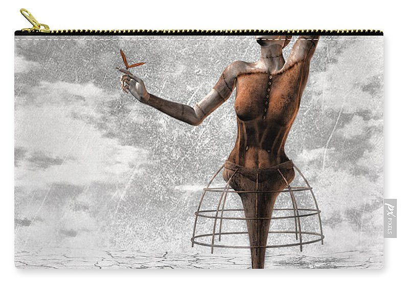 Surreal Carry-all Pouch featuring the painting Still Believe by Jacky Gerritsen