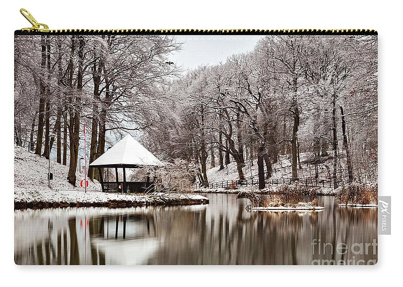 Helsingborg Carry-all Pouch featuring the photograph Still Lake In Winter by Sophie McAulay