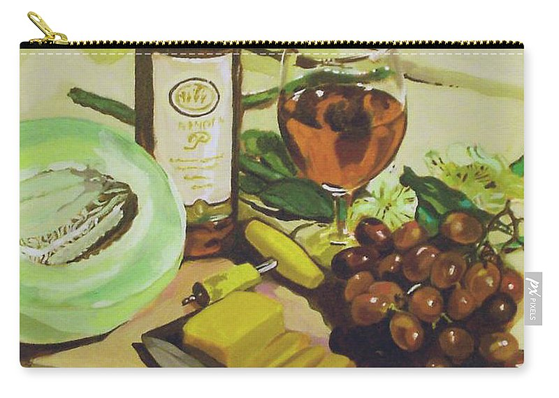 Wine Carry-all Pouch featuring the painting Still Life 2 by Jeanne Russell