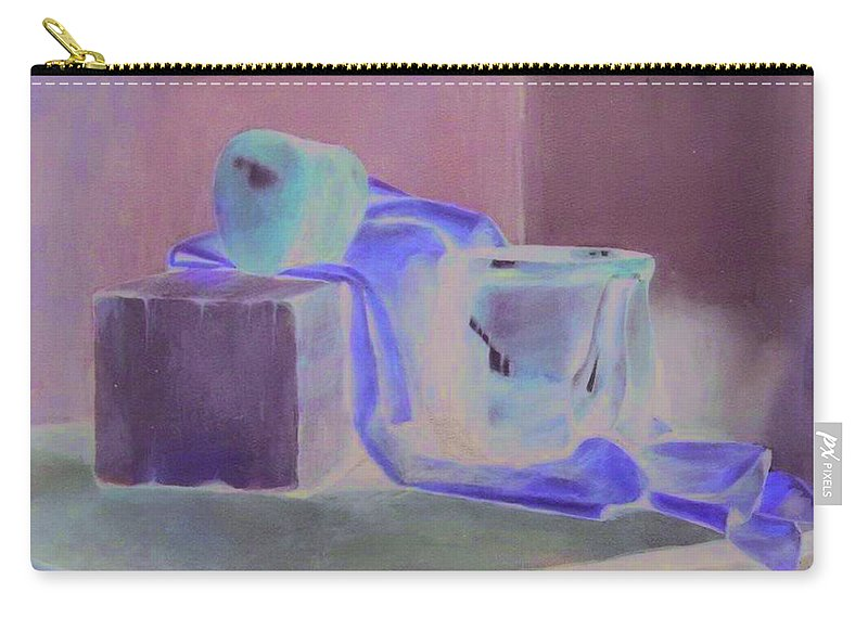 Still Life Carry-all Pouch featuring the pastel Still Life by Charles Vernon Moran