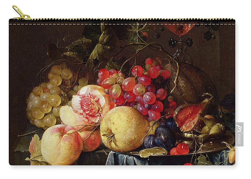 Still Carry-all Pouch featuring the painting Still Life by Cornelis de Heem