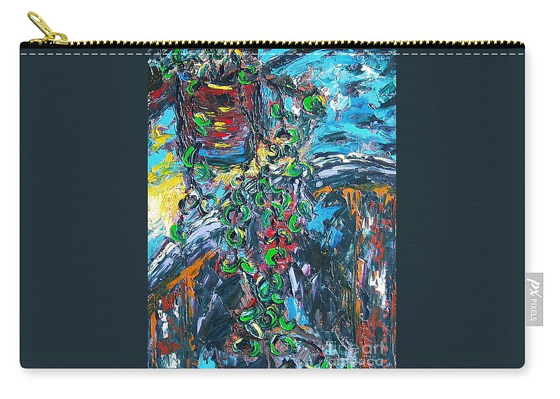 Abstract Paintings Carry-all Pouch featuring the painting Still Life by Seon-Jeong Kim
