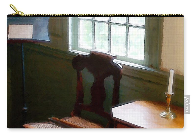 Still Life Carry-all Pouch featuring the painting Still Life, Stevens House by RC deWinter
