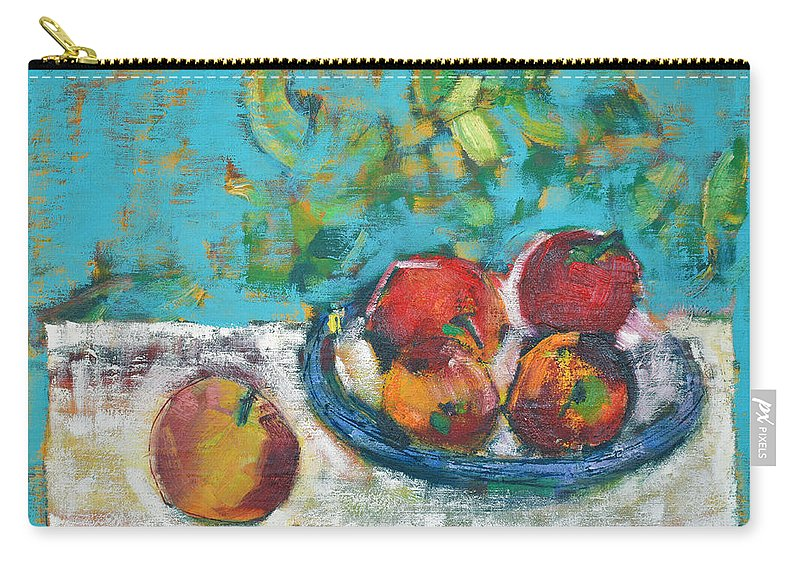 Oil Carry-all Pouch featuring the painting Still Life With Apples by Vlasta Beketic Dugonjic