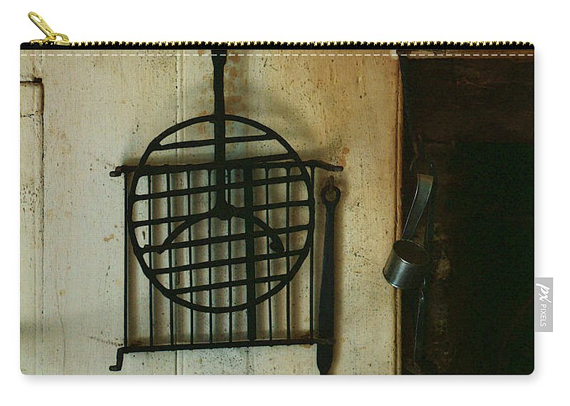 Still Life Carry-all Pouch featuring the painting Still Life With Hearth Tools by RC DeWinter