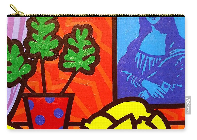 Mona Lisa Carry-all Pouch featuring the painting Still Life With Matisse And Mona Lisa by John Nolan