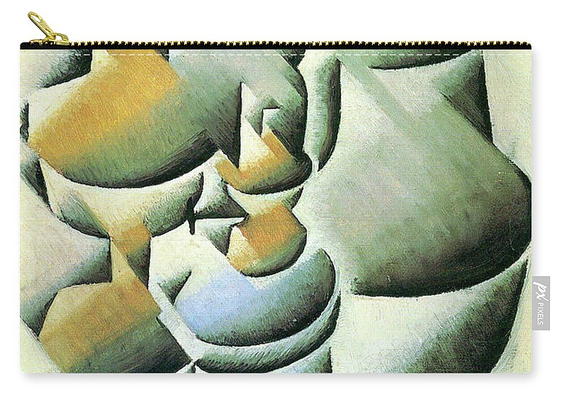 Cubism Carry-all Pouch featuring the painting Still Life With Oil Lamp by Juan Gris