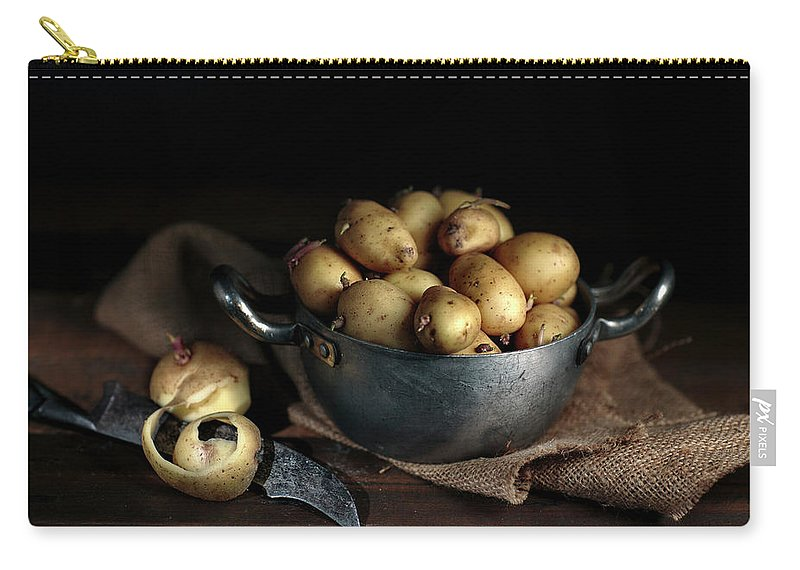 Potato Carry-all Pouch featuring the photograph Still Life With Potatoes by Nailia Schwarz
