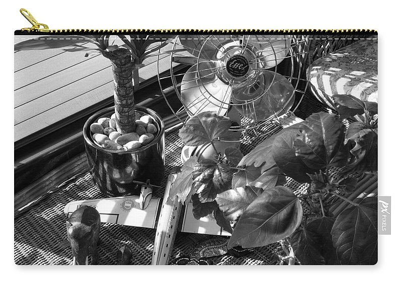 Still Life Carry-all Pouch featuring the photograph Still Life With Salamander by Charles Stuart