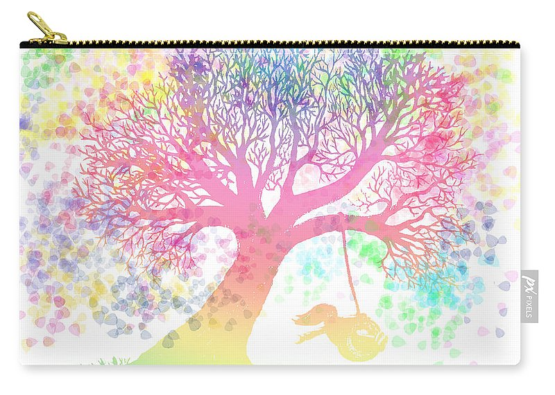 Rainbow Tree Dreams Carry-all Pouch featuring the painting Still More Rainbow Tree Dreams 2 by Nick Gustafson