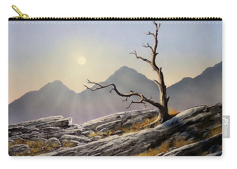 Still Standing Carry-all Pouch featuring the painting Still Standing by Frank Wilson