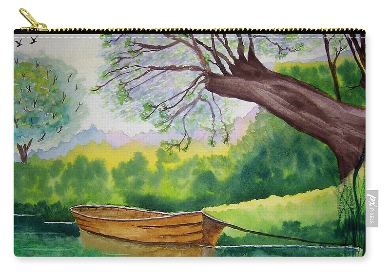 Nature Carry-all Pouch featuring the painting Still Water by B Kathleen Fannin
