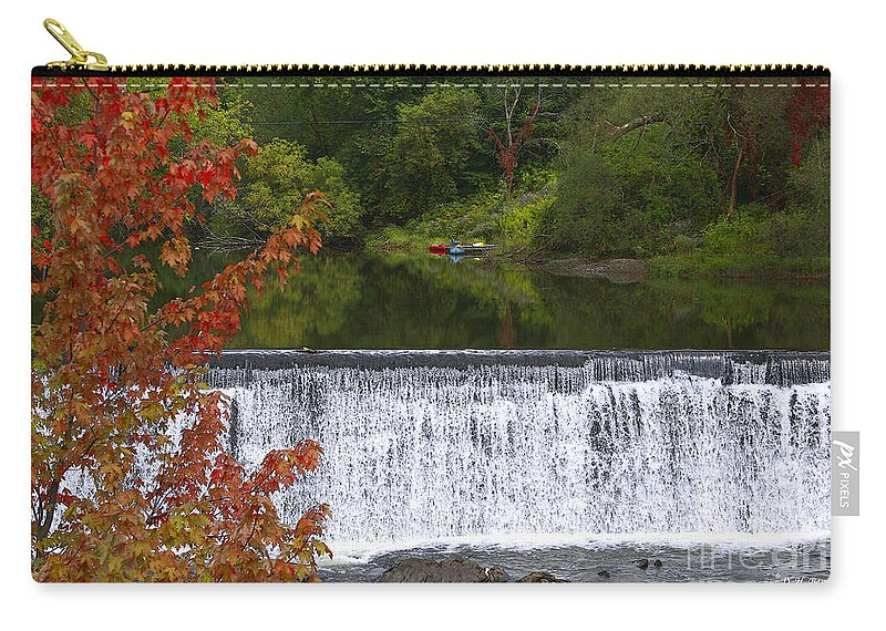 Falls Carry-all Pouch featuring the photograph Stillness Of Beauty by Deborah Benoit