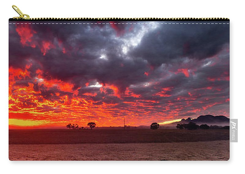 Sunrise Carry-all Pouch featuring the photograph Stirling Ranges Sunrise by Robert Caddy