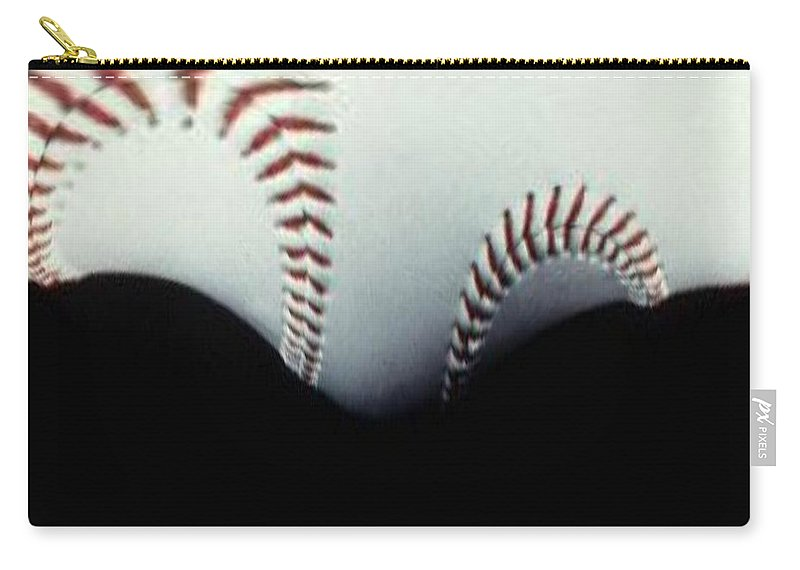 Baseball Carry-all Pouch featuring the photograph Stitches Of The Game by Tim Allen