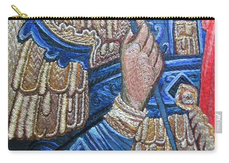 Details Carry-all Pouch featuring the tapestry - textile Stitching 1 by Vladimir Kuznetsov