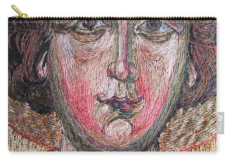 Face Carry-all Pouch featuring the tapestry - textile Stitching 2 by Vladimir Kuznetsov