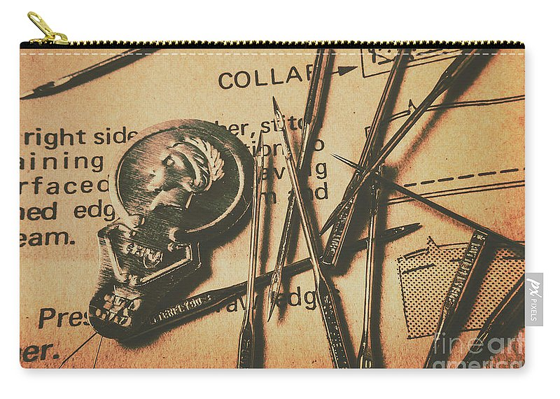 Sewing Carry-all Pouch featuring the photograph Stitching The Worn by Jorgo Photography - Wall Art Gallery