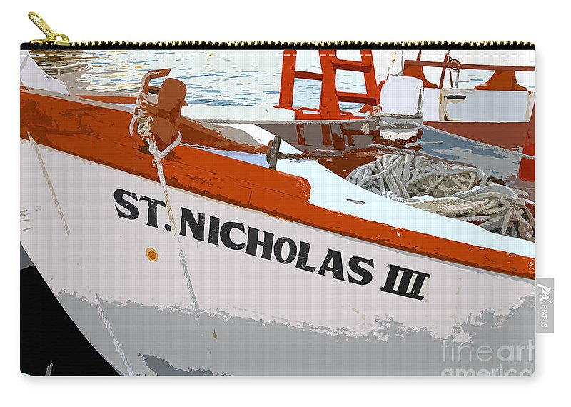 Sponge Boat Carry-all Pouch featuring the painting St.nicholas Three by David Lee Thompson