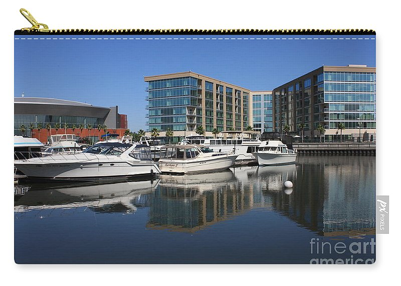 Stockton Carry-all Pouch featuring the photograph Stockton Waterscape by Carol Groenen