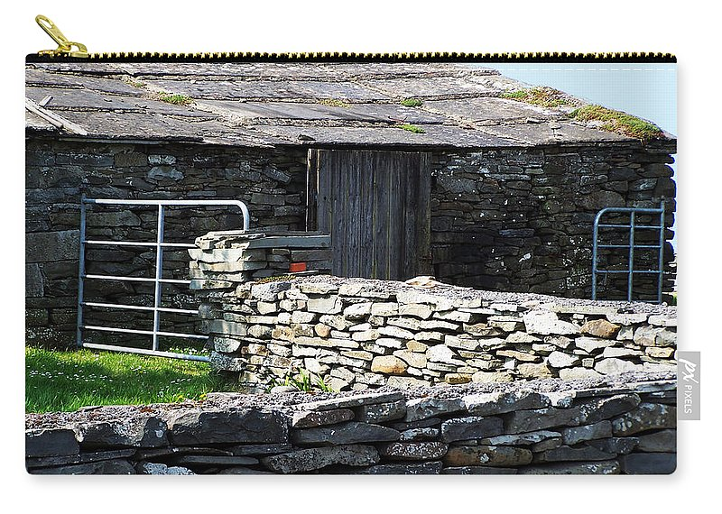 Irish Carry-all Pouch featuring the photograph Stone Barn Doolin Ireland by Teresa Mucha
