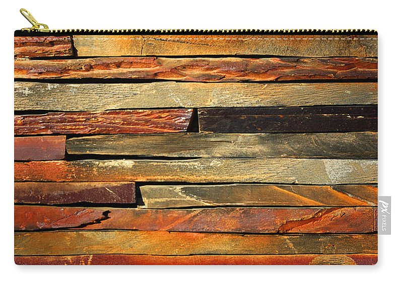 Abstract Carry-all Pouch featuring the photograph Stone Blades by Carlos Caetano