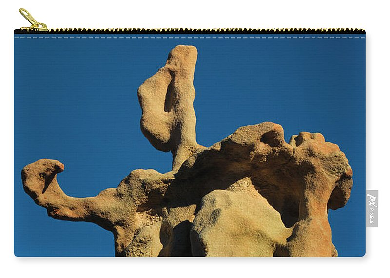 Siltstone Carry-all Pouch featuring the photograph Stone Bot by Mike Dawson