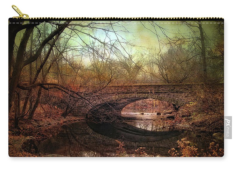 Bridge Carry-all Pouch featuring the photograph Stone Bridge by Jessica Jenney