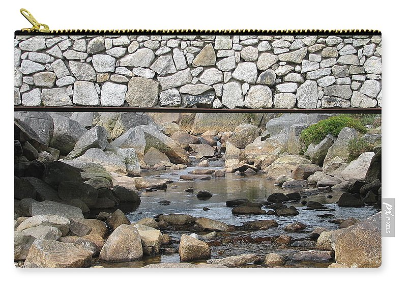 Stone Carry-all Pouch featuring the photograph Stone Bridge by Kelly Mezzapelle