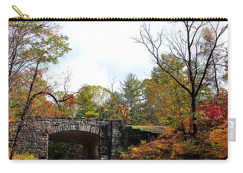 Stone Bridge Carry-all Pouch featuring the photograph Stone Bridge by Todd Hostetter