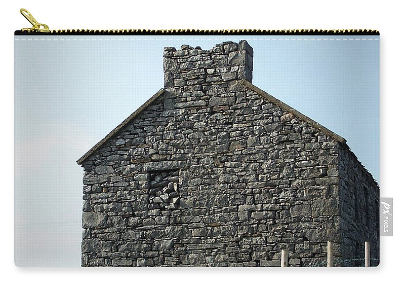Irish Carry-all Pouch featuring the photograph Stone Building Maam Ireland by Teresa Mucha