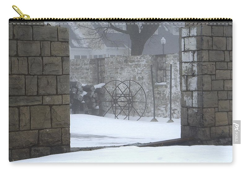Winter Carry-all Pouch featuring the photograph Stone Cellar by Tim Nyberg