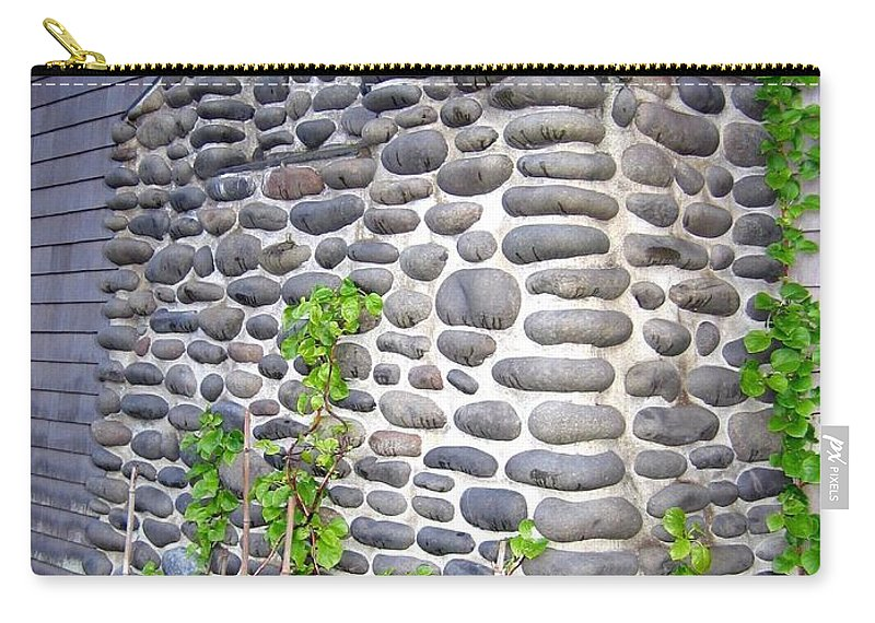 Chimney Carry-all Pouch featuring the photograph Stone Chimney by Will Borden