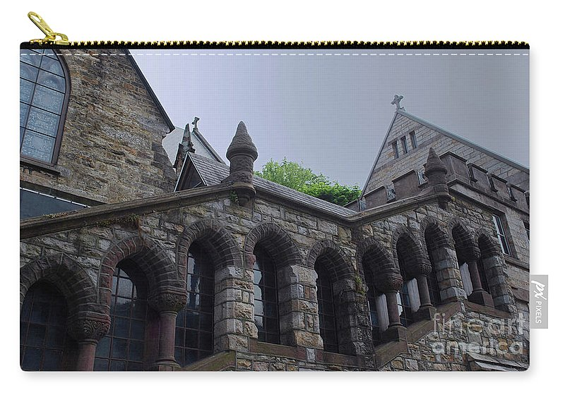 Church Carry-all Pouch featuring the photograph Stone Church by Lori Tambakis