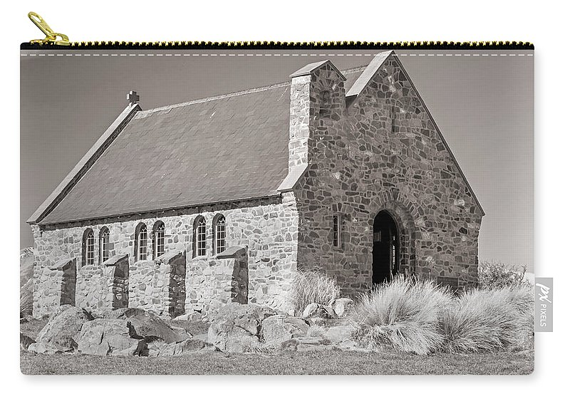 Stone Carry-all Pouch featuring the photograph Stone Church by Nicholas Blackwell